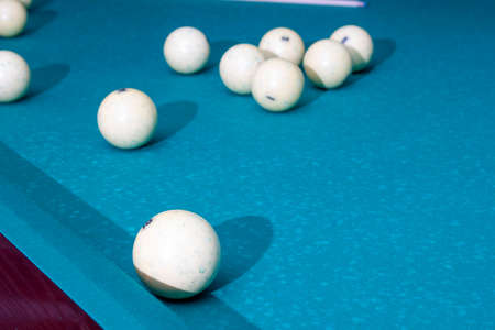 White Billiard balls - pool game, competetion Banco de Imagens