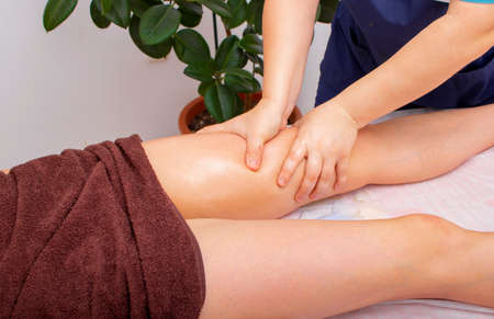 massage the thighs of cellulite therapy. Healthy therapy