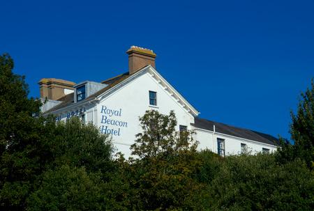 EXMOUTH, UK, 21 October 2016: Royal Beacon Hotel on Beacon Street. Exmouth. Devon. England