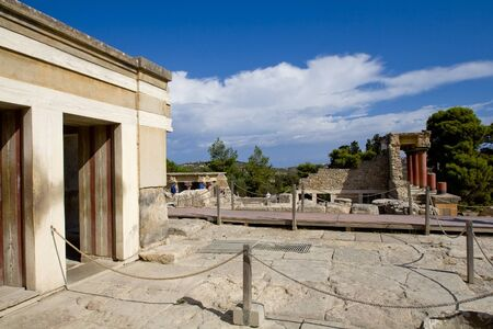 The place in the ancient palace of Knossos. Crete, Greece