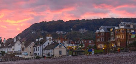 devonian: The coastal town of Sidmouth. Devon. England Stock Photo