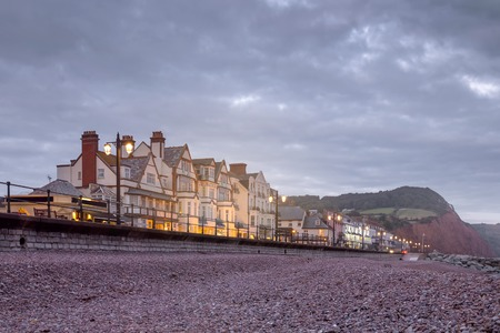 devonian: The Esplanade St. in Sidmouth English. Low tide. Devon. England Stock Photo