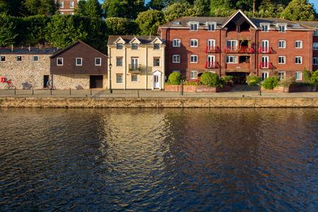 houses on Exeter Quay. Exe river. Devon. UK Stock Photo