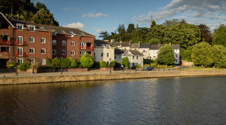 houses on Exeter Quay. Exe river. Devon. UK Stock Photo