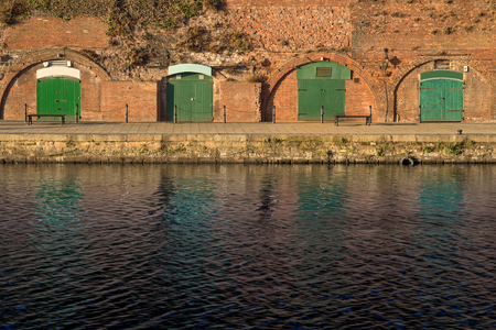 devonian: The cellars on the shore the river Exe. Exeter. England Stock Photo