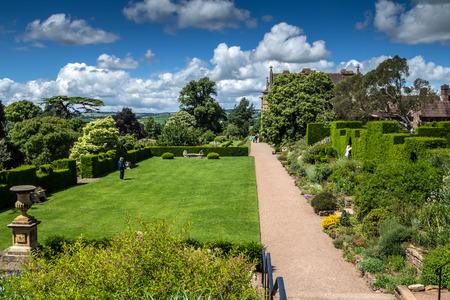 Tiverton, Devon, England, 13 July 2016: Garden in Victorian country house Knightshayes Court.