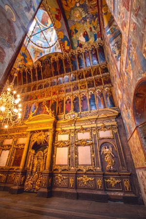 Yaroslavl, Russia, 30 May, 2013: Church of the Nativity of Christ. Interior.