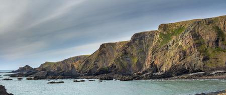 Seaside landscape in the county of Devon. Near Hartland Quay. UK Stock Photo