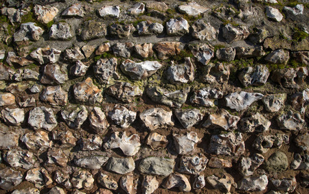The old wall of stones. Natural background