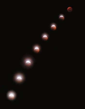 LUNAR ECLIPSE MULTIPLE EXPOSURE SEQUENCE