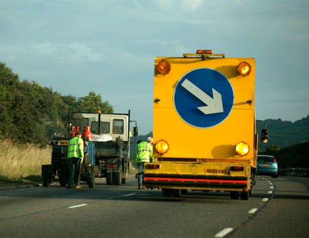 LANE CLOSURE AND ROADWORKS ON MOTORWAY