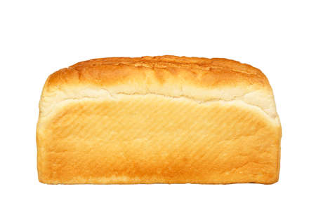 Single loaf of white bread isolated on white background Фото со стока