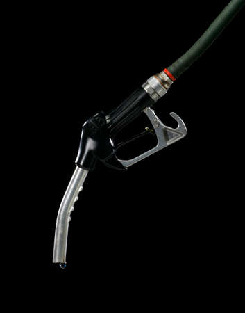 Gas pump isolated on black background
