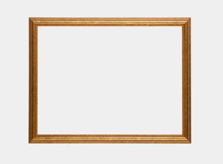 Gilt picture frame isolated on white background