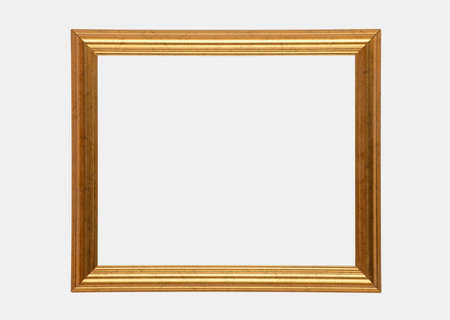 Gilt picture frame isolated on white backround