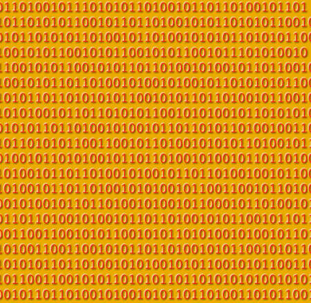Red binary codes numbers on yellow background Фото со стока