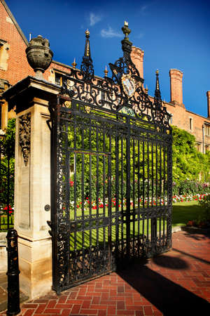 Gates at Magdalene College in Cambridge, England Editorial