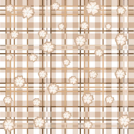 on the background of a white-beige colored square lattice, which creates an optical illusion of volume in which white and beige colors with different sizes Stock Vector - 7965997