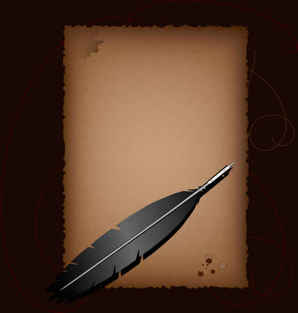 brownish: on a brown background with a translucent sheet of parchment inscribed vintage, it is an old-Liner in black quill pen