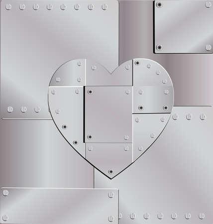 lamiera metallica: lamiera, fissata con rivetti, rivestiti con cuore di ferro