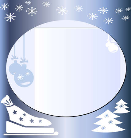 felicitate: Christmas letter blue