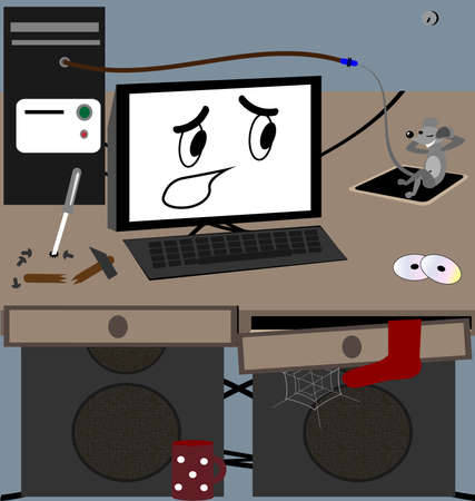 drollery: computer and mouse Illustration