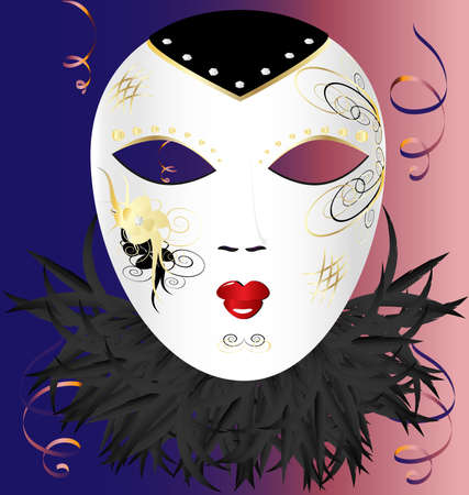 mummers: venetian mask Illustration