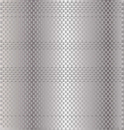 metallic background in a grid of metal rectangles Vector