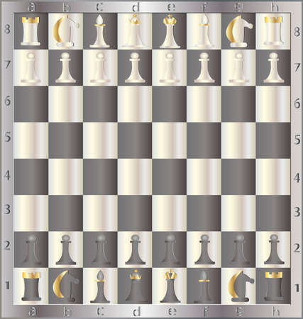 chessmen: chessboard with the order placed by chessmen