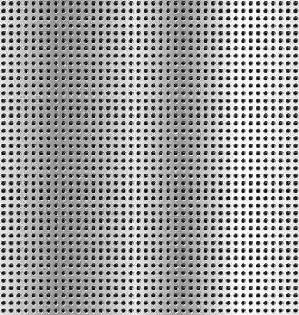 gaten: metalen achtergrond - textuur Zilver metalen gaten