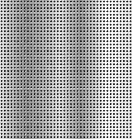 structure metal: metallic background - texture silver metal holes Illustration