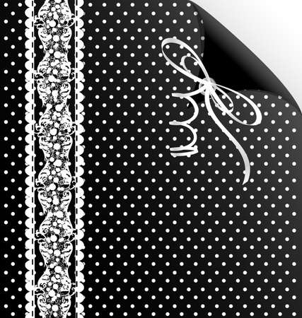 rounde: black and white background, simulating cloth and lace
