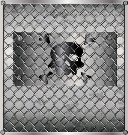 lamiera metallica: sfondo metallico - lamiera dietro le sbarre