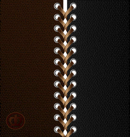 lacing: beige lacing between black and  brown tissue with a granular structure