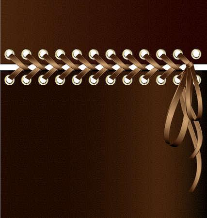 between: abstract background: beige lacing between brown tissue Illustration