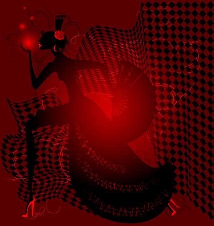 red dance and black women Vector