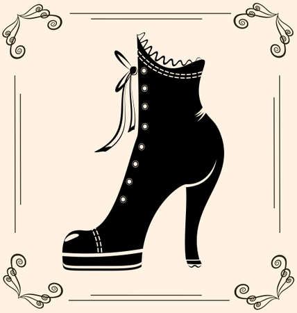 vintage ladies' shoes(20).jpg Stock Illustratie