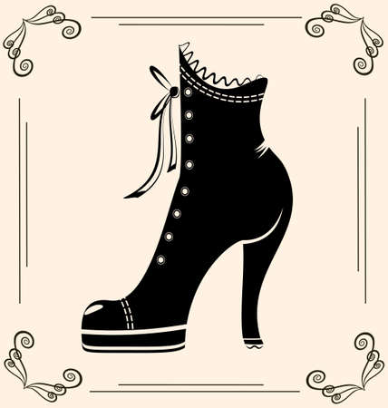 vintage ladies shoes(20).jpg Vector
