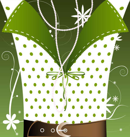 white-green background female fantasy Vector