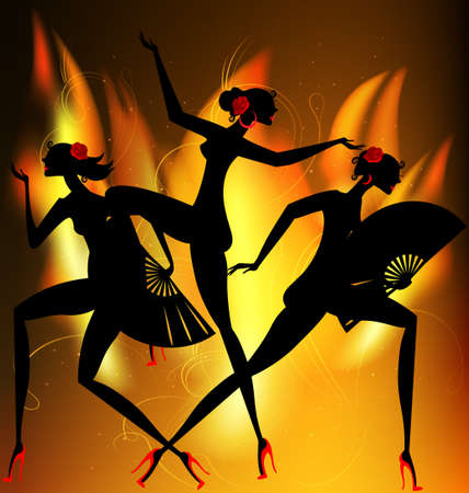 flaming dance Illustration