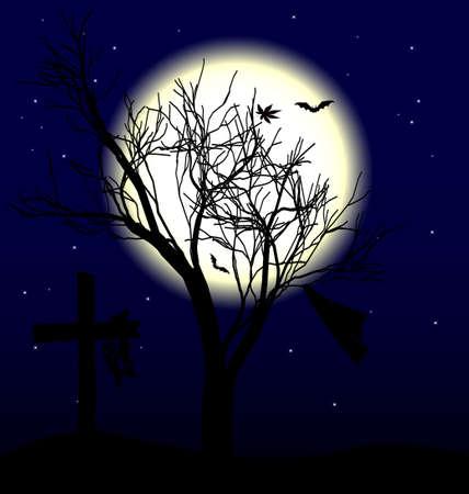 moon tree Stock Vector - 10850652