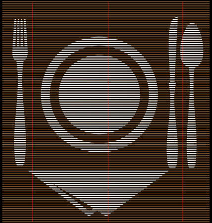 straw mat dinner Vector