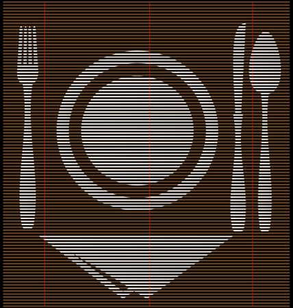 wooden spoon: straw mat dinner