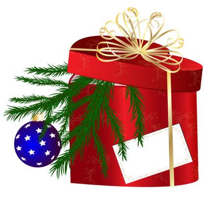 red Christmas box Vector