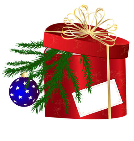 decoraded: red Christmas box