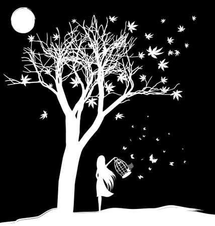 Abschied von Träumen Illustration