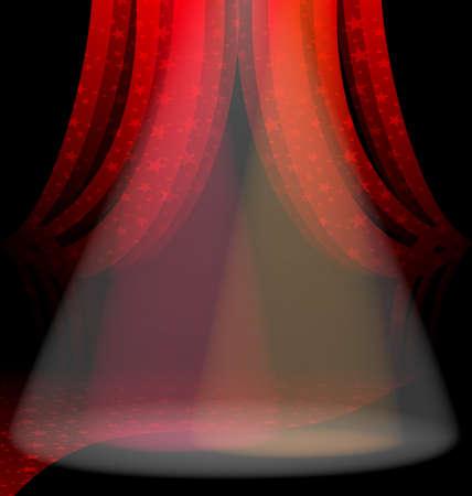 red  drape  イラスト・ベクター素材