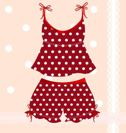 femme dressing: rouges underlinen Illustration