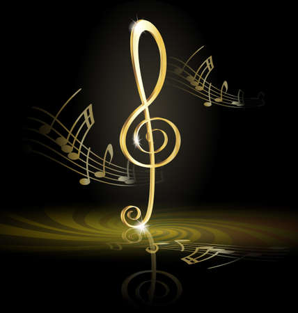 musical note: treble clef
