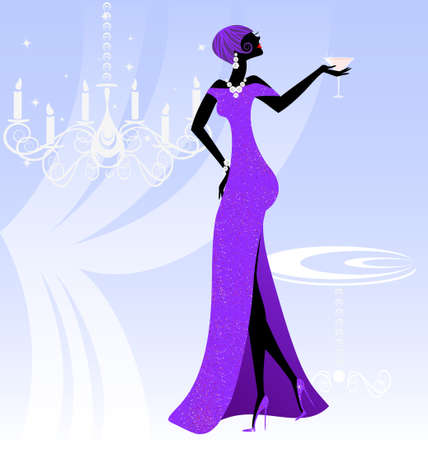 lady in violet Vector